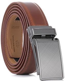 Marino Avenue Men's Genuine Leather Ratchet Dress Belt wit