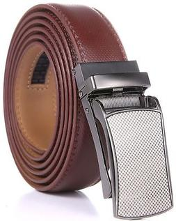 Marino Avenue Mens Genuine Leather Ratchet Dress Belt with L