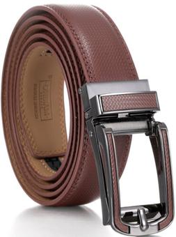 Marino Avenue Mens Genuine Leather Ratchet Dress Belt W/ Ope