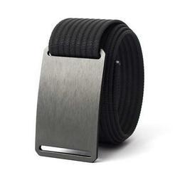 GRIP6 Men's Military Golf Sliding Belt, Gunmetal Buckle Bl