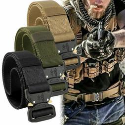"49"" Mens Military Tactical Belt Buckle Combat Waistband Adju"