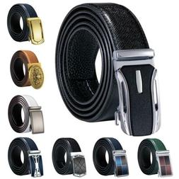 Mens Replacement Belts Automatic Buckles 3.5cm Genuine Leath