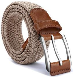 Mens Stretch Belt,Bulliant Woven Stretch Braided Belt For Me