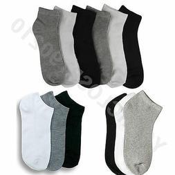 Mens Womens 9-11 10-13 Soft Ankle Cut Sport Socks Lot White