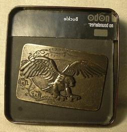 Non-Branded Metal Belt Buckle w/ Raised Eagle