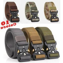 Metal Nylon Men Tactical Buckle Waist Belt Military Strap Sp
