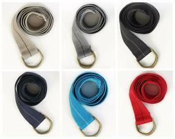 Military Canvas Web Belt Double D-ring Buckle Men Women Unis
