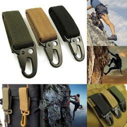 Military Nylon Carabiner Key Hook Webbing Molle Buckle Outdo