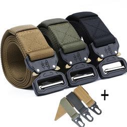 Military Style Tactical Canvas Belt Nylon Men Army Metal Buc