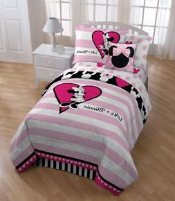 "Disney Minnie Mouse Hearts 39"" x 75"" Twin Sheet Set"
