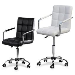 Modern PU Leather Office Chair Gas Lift Swivel Executive Com