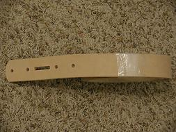 """NATURAL LEATHER BELT BLANK W/BUCKLE HOLES 1, 1-1/4"""" 1-1/2"""" W"""
