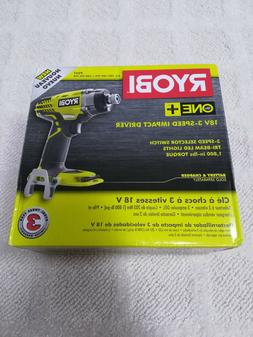 New RYOBI 18-Volt ONE+ Cordless 3-Speed 1/4 In Hex Impact Dr