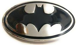 ~ NEW  BATMAN Chrome and Black ~ METAL BELT BUCKLE ~ great f