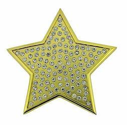 New Big Gold Star Crystals Rhinestone Belt Buckle Girly Wome