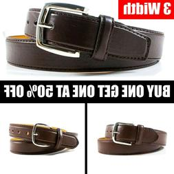 NEW Black Brown Men's Casual Geunie Leather Dress Buckle Bel