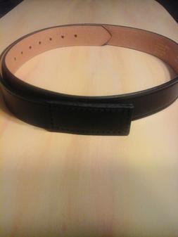 New Red Kap Buckleless Black Leather Work Belt Size 40-44.