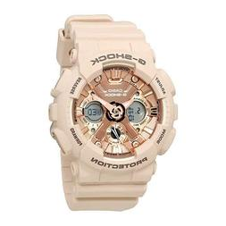 New Casio G-Shock GMAS120MF-4 S-Series Rose Gold Dial Pink R