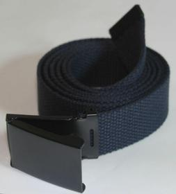 """NEW FLIP TOP ADJUSTABLE 42"""" INCH MILITARY WEB NAVY BLUE CANV"""