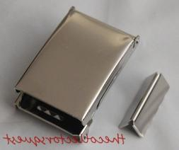 """NEW FLIP TOP CHROME BELT BUCKLE with TIP ONLY for 1.25"""" Canv"""