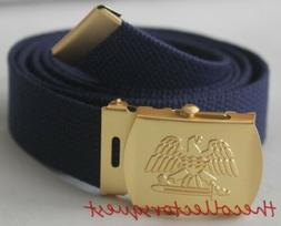 """NEW GOLD EAGLE ADJUSTABLE 42"""" INCH NAVY CANVAS MILITARY GOLF"""