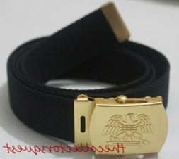 """NEW GOLD EAGLE ADJUSTABLE 54"""" INCH BLACK CANVAS MILITARY GOL"""