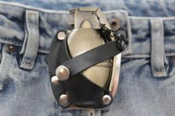 New Men Big Gold Metal Belt Buckle Western Working Lighter G