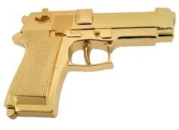 New Men Fake Gun Belt Buckle Gold Metal Hand western Fashion