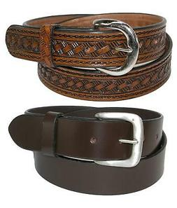 New CTM Men's Leather 1 3/8 Inch Removable Buckle Belts