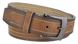 """New Mexico Gun Metal Buckle Men's Vegan Leather Belt  1.5"""" W"""
