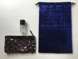 NEW MAC Prep + Prime Fix + & Sequin Makeup Bag & MAC Gift Ba
