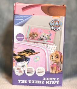 Nickelodeon PAW PATROL Pink Comforter & TWIN Size Sheet Set