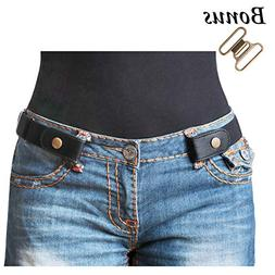 no buckle stretch belt for women men