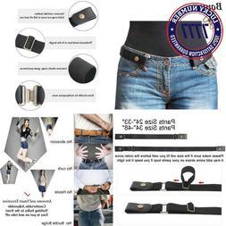 No Buckle Stretch Belt For Women/Men Elastic Waist Belt Up T