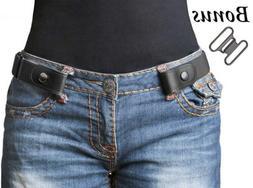 "No Buckle Women/Men Stretch Belt Elastic Waist Up to 48"" for"
