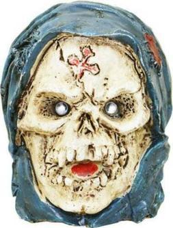 NWT Men's LED Light Up Blue & Cream 3D Gruesome Skull Belt B