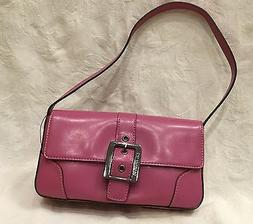 NWT Women's GUESS Small ORCHID Purple Silver Belt Buckle Vin