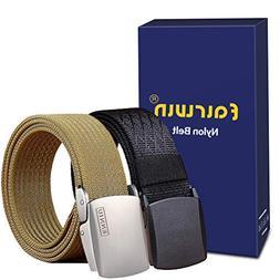nylon web belt plastic and metal buckle
