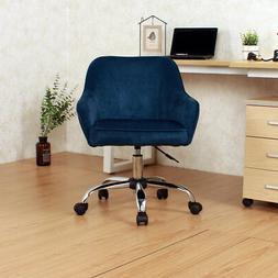 Office Chair Mid-Back Desk Task Velvet Seat Backrest Support