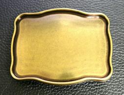 "OLD ENGLISH BRASS BELT BUCKLE BLANK FITS 1-1/2"" TROPHY BUCKL"