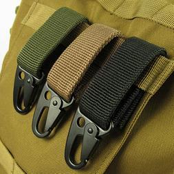 Outdoor Military Nylon Key Hook Webbing Molle Buckle Hanging