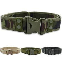 Outdoor Sports Men Military Belt Buckle Camouflage Waistband