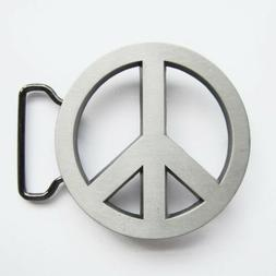 Peace Sign Symbol Belt Buckle