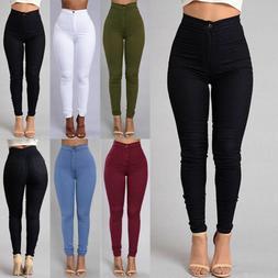 Pencil Jeans Women Lady Stretch Casual Denim Skinny Pants Hi