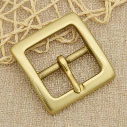1x Polished Solid Brass Belt Buckle For 1.5inch Wide Belt Re