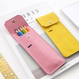 Portable Bind Pencil Case Belt Buckle Wrap Storage Pen Makeu