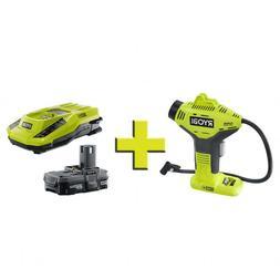 Portable 18 Volt ONE+ Power Air Hose Inflator Compressor Com