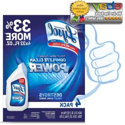 Lysol Power Toilet Bowl Cleaner, 10X Cleaning Power 128oz.