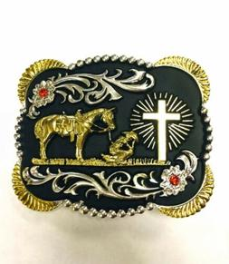 praying cowboy belt western rodeo fashion horse