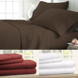 PREMIUM BAMBOO BED SHEET SET DEEP POCKET COMPLETE BEDDING OV